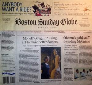 Boston Globe 7/20/08