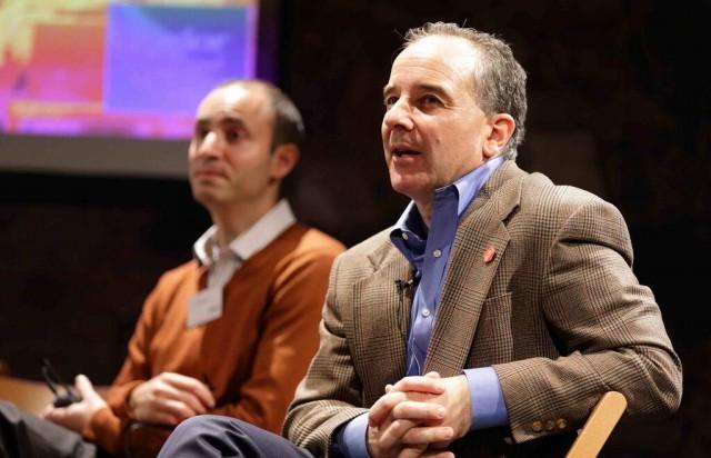 Drs. Bryan Vartabedian (front) and Jordan Grumet